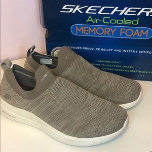 Skechers air cooled memory foam slip ons